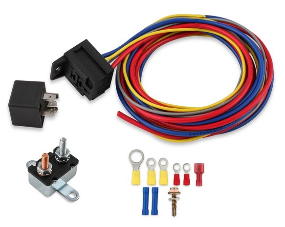 40220G - Mr Gasket Electric Fan Harness & Relay Kit w/ Manual Control Image