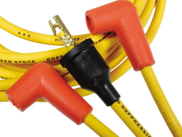 4039 - Spark Plug Wire Set - 8mm - Yellow with Orange Straight Boots Image