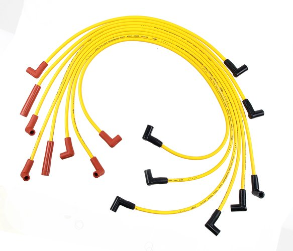 4049 - Spark Plug Wire Set - 8mm - Super Stock - Graphite Core - Yellow with HEI Stock Style Boots- Image