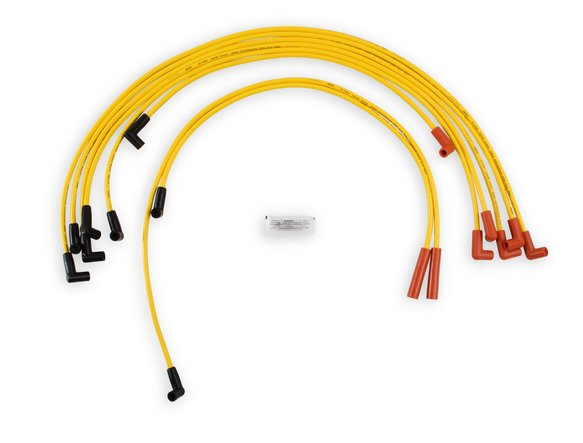 4049 - Spark Plug Wire Set - 8mm - Super Stock - Graphite Core - Yellow with HEI Style Boots- Image