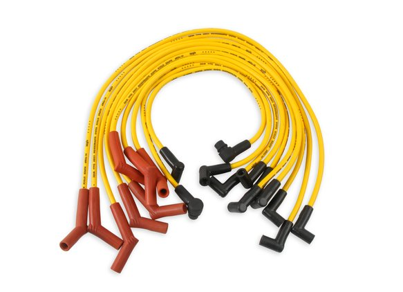4056 - Spark Plug Wire Set - 8mm - Custom with Graphite Core - Yellow with HEI Stock Style Boots Image