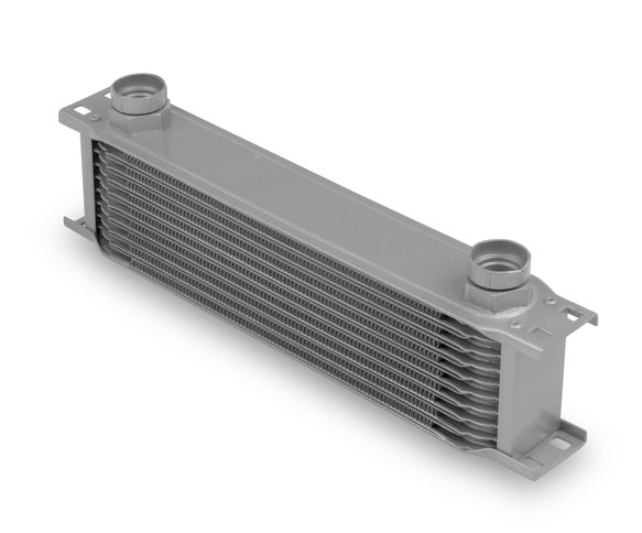 41000ERL - Earls Temp-A-Cure Oil Cooler - Grey - 10 Rows - Wide Cooler -10 O-Ring Boss Female Ports Image