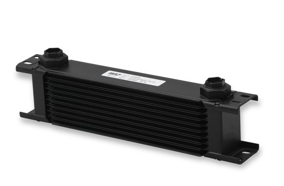 410ERL - Earls UltraPro Oil Cooler - Black - 10 Rows - Wide Cooler - 10 O-Ring Boss Female Ports Image