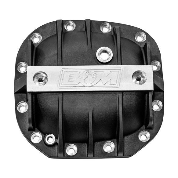 41296 - B&M Hi-Tek Aluminum Differential Cover for Ford Super 8.8 - Black Image