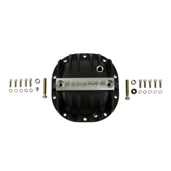 41297 - B&M Hi-Tek Aluminum Differential Cover for Ford 8.8-inch - Black - additional Image