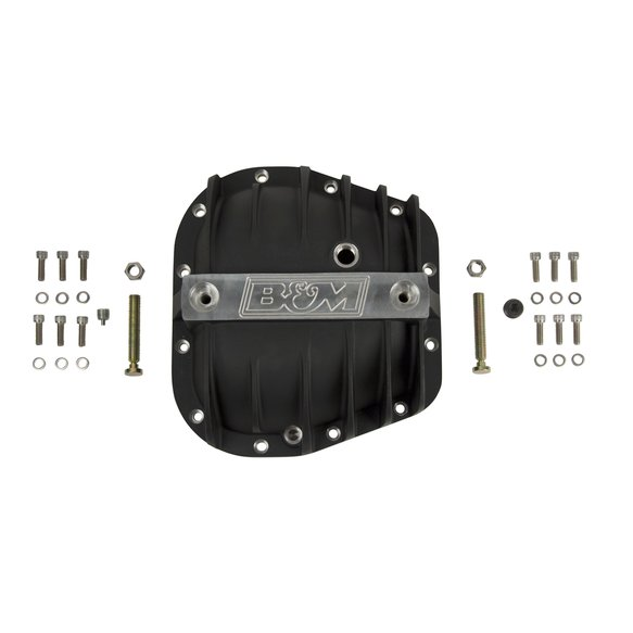 41298 - B&M Hi-Tek Aluminum Differential Cover for Ford 9.75-inch - Black - additional Image