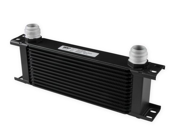 413-16ERL - Earls UltraPro Oil Cooler - Black - 13 Rows - Wide Cooler - 16 AN Male Flare Ports Image