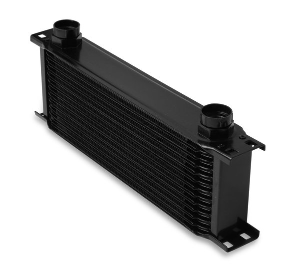 41300AERL - Earls Temp-A-Cure Oil Cooler - Black - 13 Rows - Wide Cooler -10 O-Ring Boss Female Ports Image