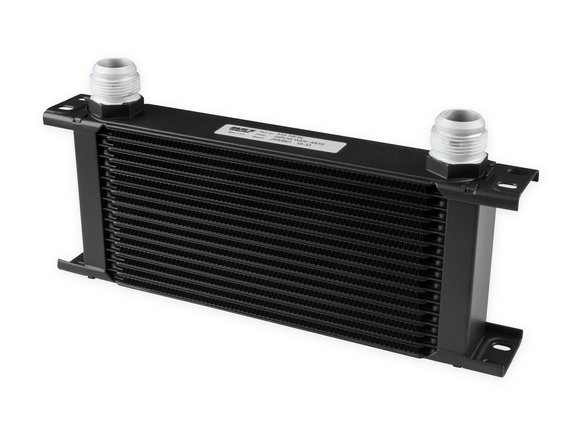 416-16ERL - Earls UltraPro Oil Cooler - Black - 16 Rows - Wide Cooler - 16 AN Male Flare Port Image