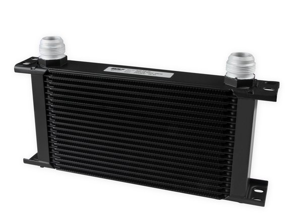 419-16ERL - Earls UltraPro Oil Cooler - Black - 19 Rows - Wide Cooler - 16 AN Male Flare Ports Image