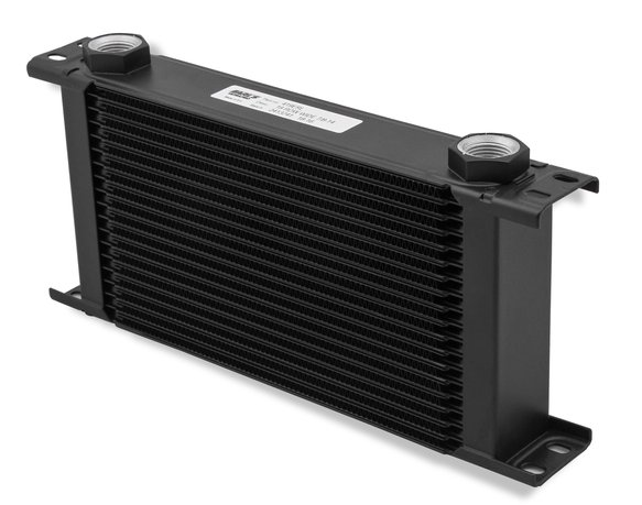460ERL - Earls UltraPro Oil Cooler - Black - 60 Rows - Wide Cooler - 10 O-Ring Boss Female Ports Image