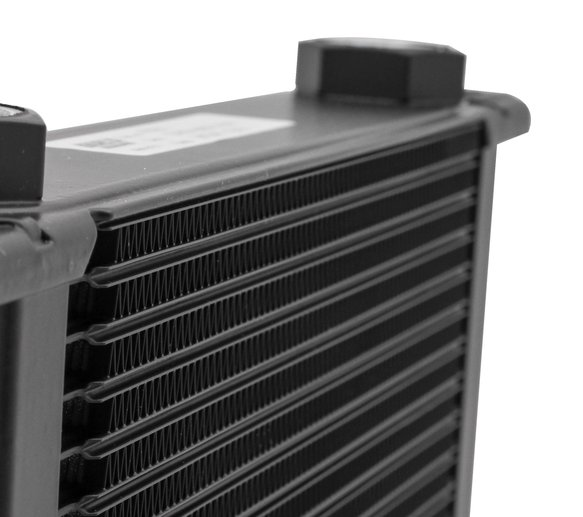 434ERL - Earls UltraPro Oil Cooler - Black - 34 Rows - Wide Cooler - 10 O-Ring Boss Female Ports - additional Image