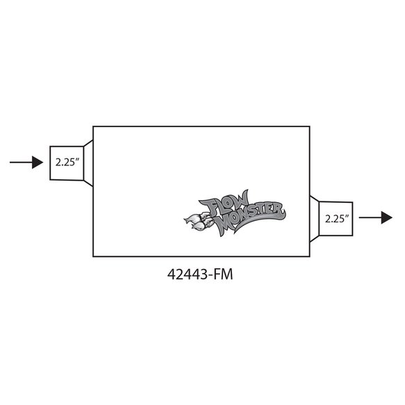 42443-FM - FLOWMONSTER 2-CHAMBER MUFFLER - additional Image