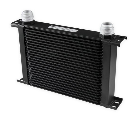 425-16ERL - Earls UltraPro Oil Cooler - Black - 25 Rows - Wide Cooler - 16 AN Male Flare Ports Image