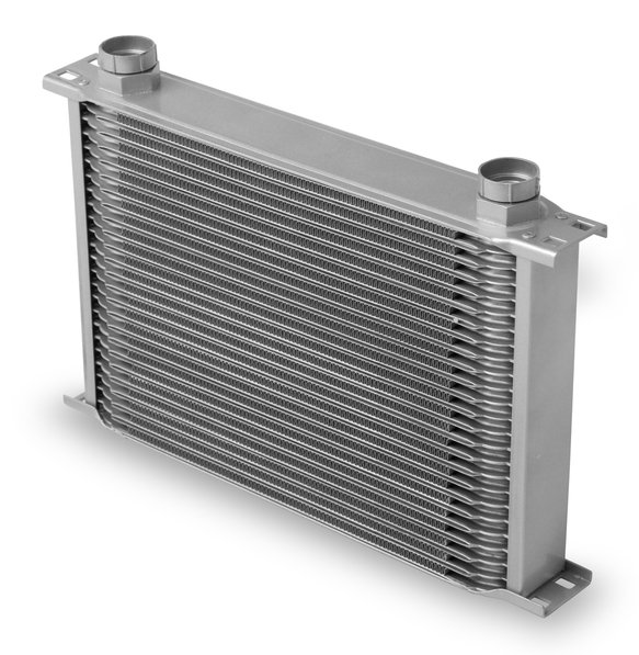 42500ERL - Earls Temp-A-Cure Oil Cooler - Grey - 25 Rows - Wide Cooler -10 O-Ring Boss Female Ports Image