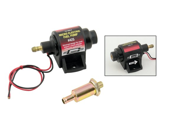 42S - Electric Fuel Pump (Micro) - 2 PSI / 3.5 PSI - 28 GPH - Gasoline - for carburetor Image