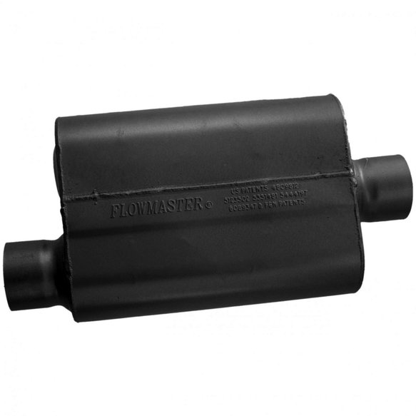 43041 - 40 Series Muffler - 3.00 Offset In / 3.00 Center Out - Aggressive Sound - additional Image