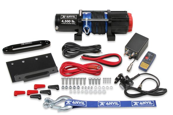 4510AOR - Anvil - 4,500 Lbs Winch w/ Synthetic Rope & Aluminum Fairlead Image