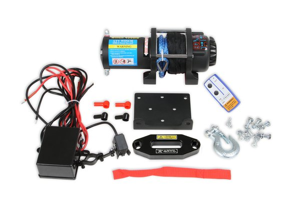 4511AOR - Anvil - 4,500 Lbs Winch w/ Synthetic Rope & Aluminum Fairlead Image