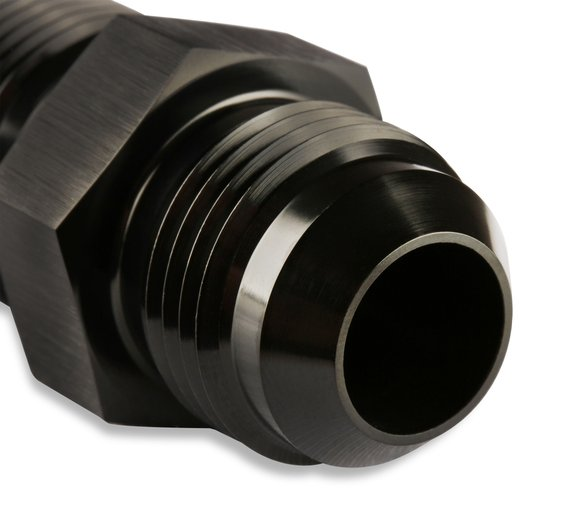 483212-BL - Mr. Gasket -12 AN Straight Bulkhead Fitting Black - additional Image