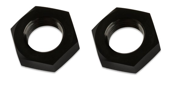 492404-BL - Mr Gasket -4 Bulkhead Nuts (2) Black Image