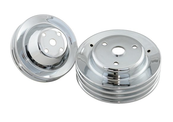 4963 - CHROME PULLEY SET-SBC Image