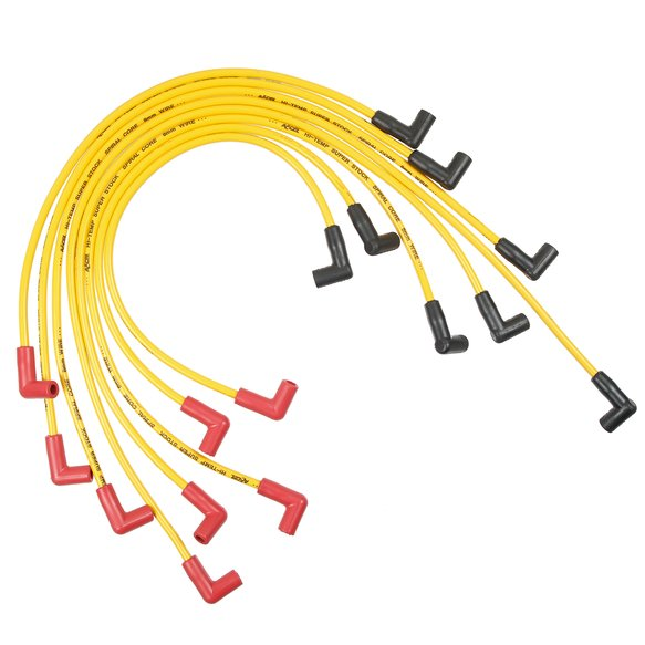 5048Y - SPARK PLUG WIRE SET - 90 DEG BOOTS - YELLOW Image