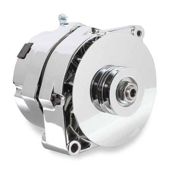51203CG - Alternator - GM 1971-86 - 140 AMP - Chrome Finish Image