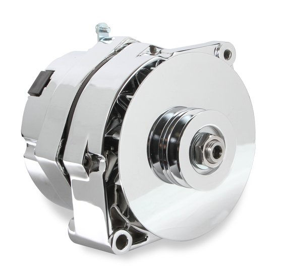51203CG - Mr. Gasket 1-Wire Alternator - 140 Amp - Chrome Finish Image