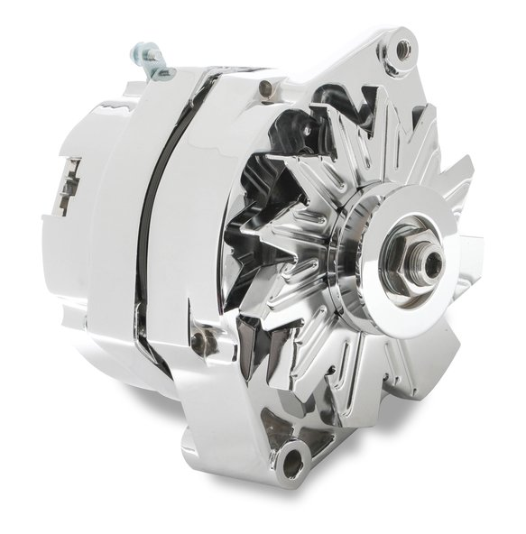 5123 - CHROME ALTERNATOR-EARLY GM DELCO 80 Amp Image