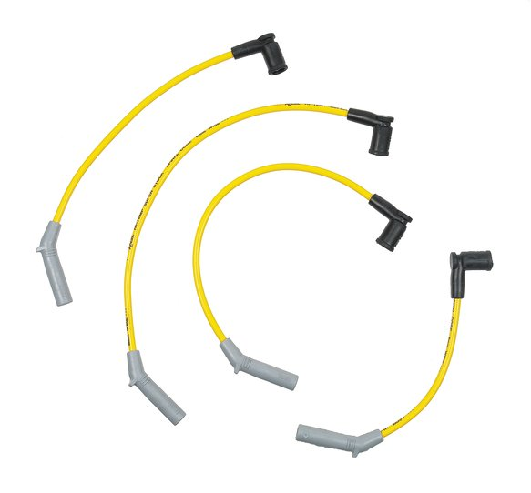 5153 - Spark Plug Wire Set - Super Stock Spiral 8mm - 77-80 Ford Fiesta - Yellow Image