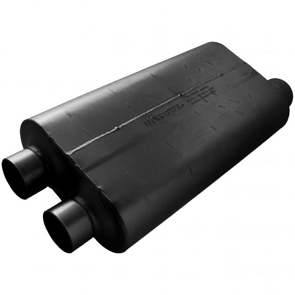 530513 - 50 Big Block Muffler - 3.00 Dual In / 3.50 Offset Out - Mild Sound Image