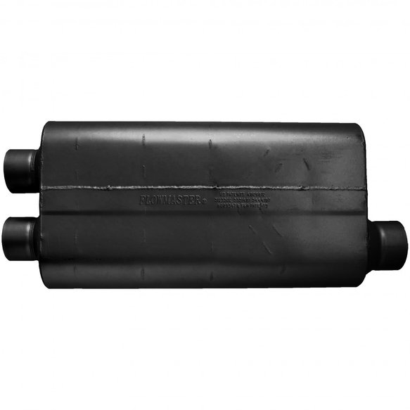 530513 - 50 Big Block Muffler - 3.00 Dual In / 3.50 Offset Out - Mild Sound - additional Image