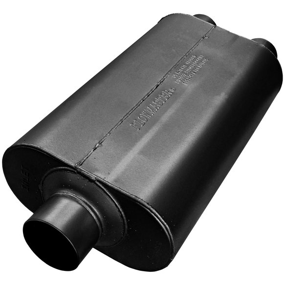 530552 - Super 50 Muffler - 3.00 Center In / 2.50 Dual Out - Mild Sound Image