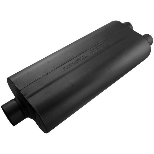 530722 - 70 Series Muffler - 3.00 Center In / 2.25 Dual Out - Mild Sound Image