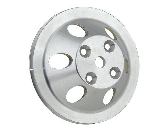 5314 - Water Pump Pulley - Aluminum - Single Groove - Chevy Small Block w/ Long Water Pump 1969-'85 Image