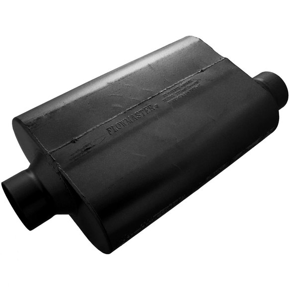 53531-12 - 30 Series Race Muffler - 3.50 Offset In / 3.50 Center Out - Aggressive Sound Image