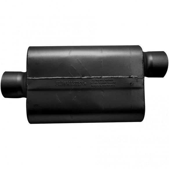 54031-12 - 30 Series Race Muffler - 4.00 Offset In / 4.00 Center Out - Aggressive Sound - additional Image