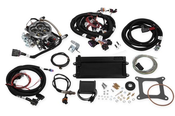 550-425 - Terminator LS TBI Kit - Polished w/ Transmission Control Image