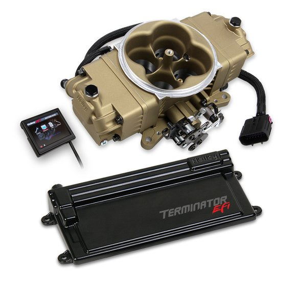 550-445 - Terminator Stealth EFI w/ GM Transmission Control - Classic Gold Finish Image