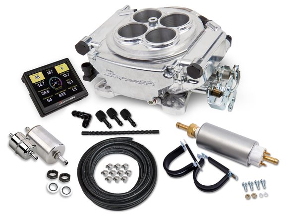 550-510K - Holley Sniper EFI Self-Tuning Master Kit - Shiny Finish Image