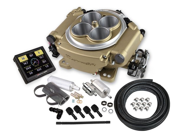550-516K - Holley Sniper EFI Self-Tuning Master Kit - Classic Gold Finish Image