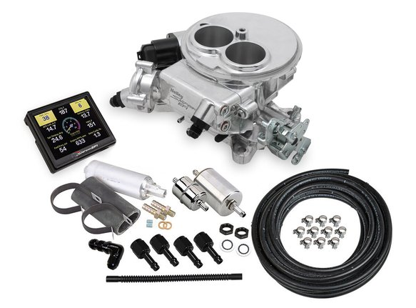 550-849K - Holley Sniper EFI 2300 Self-Tuning Master Kit - Shiny Finish Image