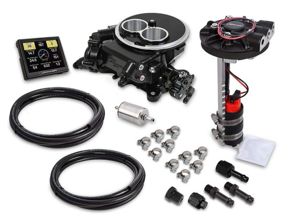 550-850D - Holley Sniper EFI 2300 Drop-in Return Style Master Kit - Black Finish Image