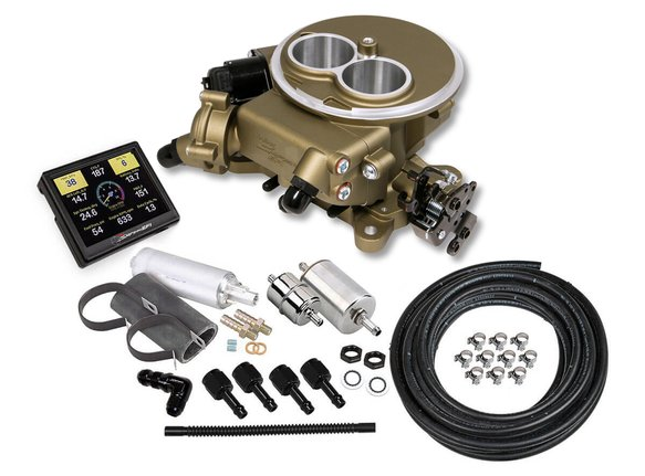 550-851K - Holley Sniper EFI 2300 Self-Tuning Master Kit - Classic Gold Finish Image