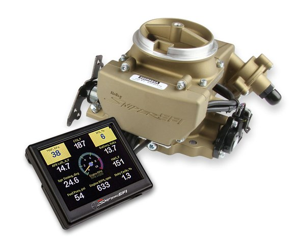 550-857 - Holley Sniper EFI 2GC Large Bore - Classic Gold Finish Image