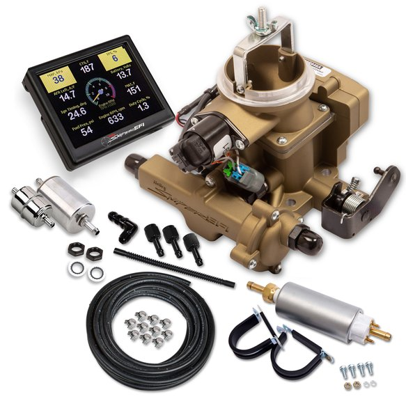 550-860K - Holley Sniper EFI BBD Master Kit for Jeep CJ - Classic Gold Image