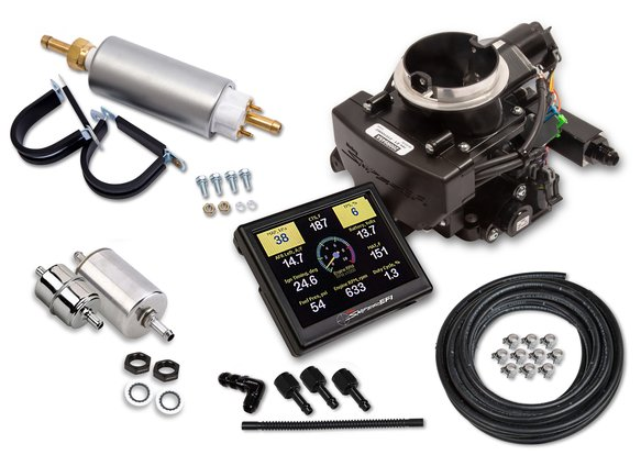 550-865K - Holley Sniper EFI 2GC Small Bore Master Kit - Black Ceramic Finish Image