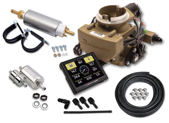 550-866K - Holley Sniper EFI 2GC Small Bore Master Kit - Classic Gold Finish Image