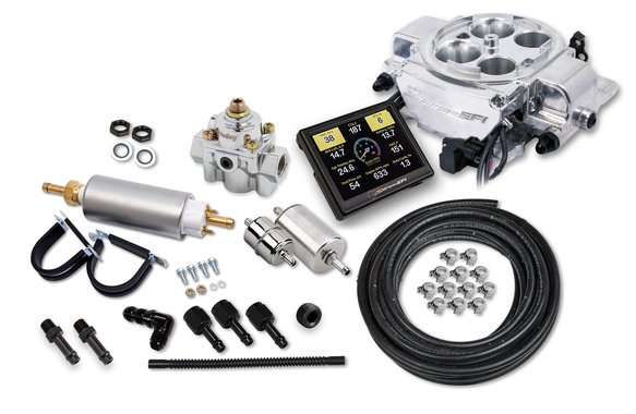 550-867K - Holley Sniper EFI Quadrajet™ Master Kit - Shiny Finish Image